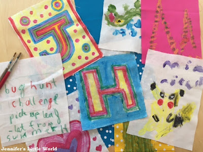 How to make some simple colourful garden bunting