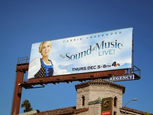 Carrie Underwood The Sound of Music Live billboard