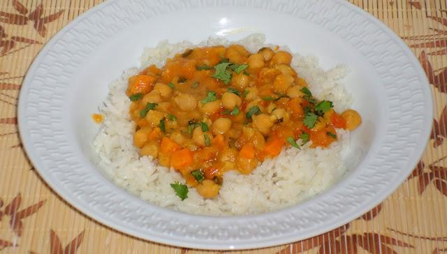 receita de curry de grão de bico