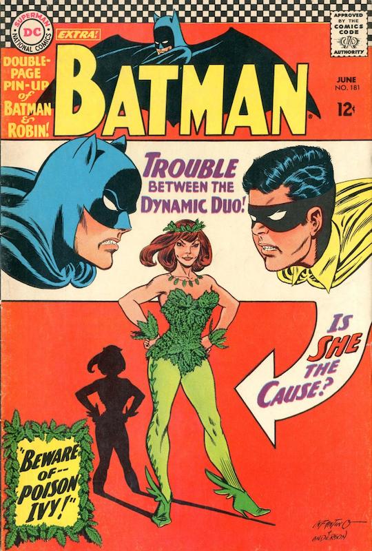 Batman #181 (1966):  Carmine Infantino cover  Gardner Fox writer  Gaspar Saladino letterer  Joe Giella inker  Julius Schwartz editor  Murphy Anderson cover  Sheldon Moldoff