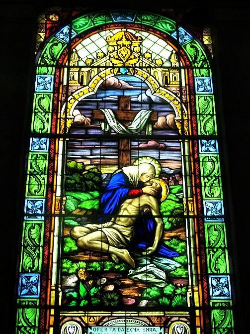 Vitral da Catedral São Francisco de Paula, no Centro Histórico de Pelotas
