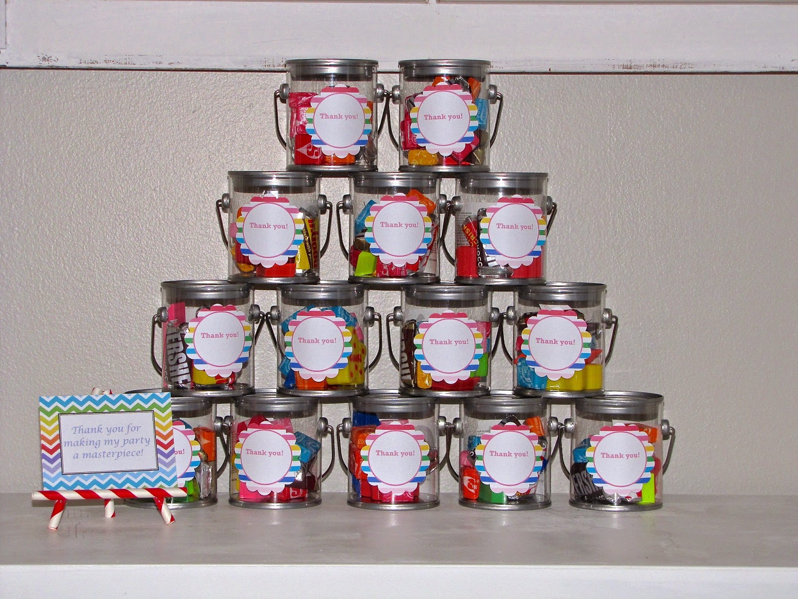 art birthday party favors