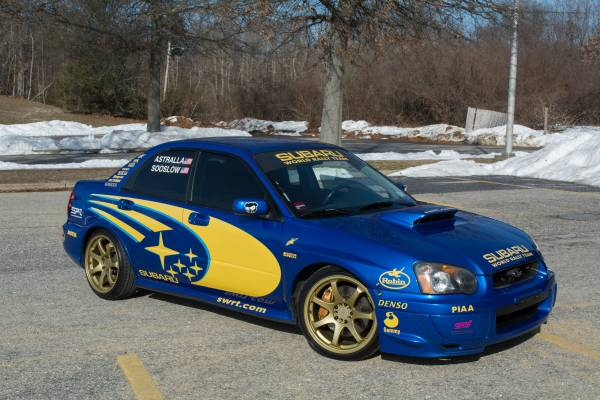 2005 Subaru Wrx Sti In World Rally Blue Auto Restorationice