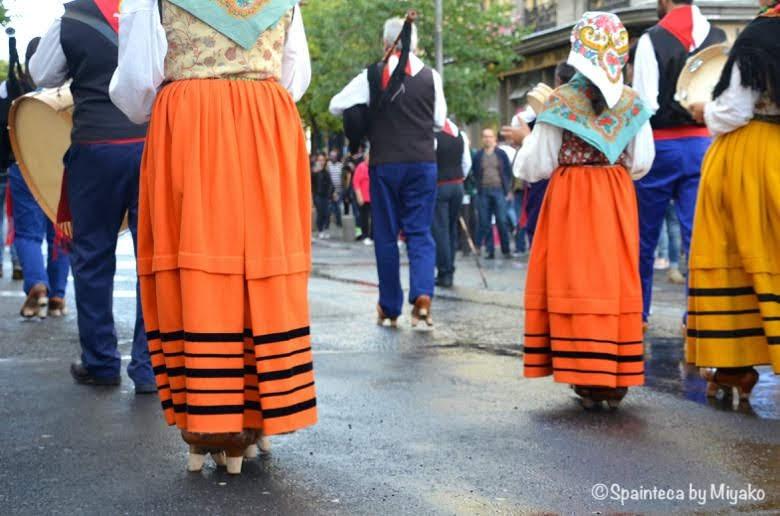 Fiesta de la Trashumancia Madrid  スペインの山の民の民族衣装
