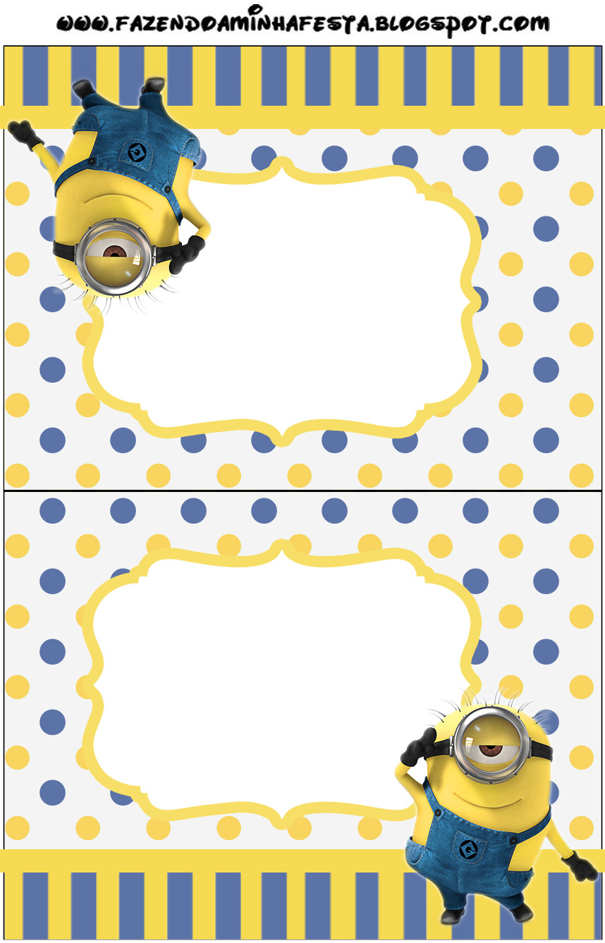 Unforgettable image with minion birthday card printable