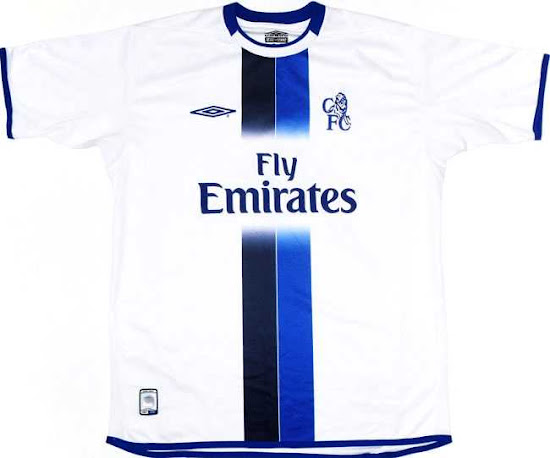 huge discount 38965 a913d Closer look: Umbro Chelsea 03-04 Home, Away & Third Kits ...