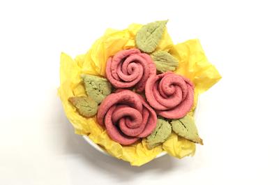 galletas en forma de rosa
