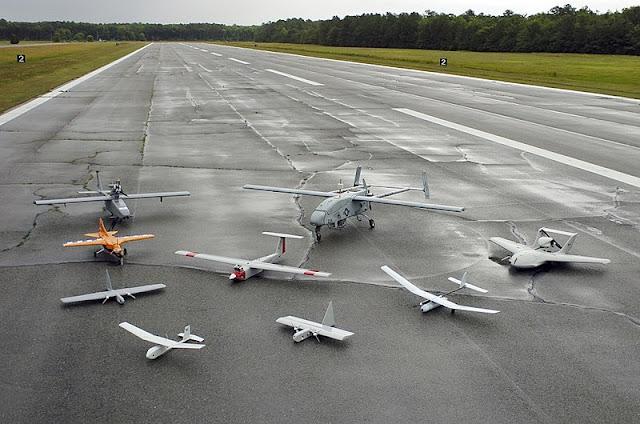 Beberapa Bentuk dan Ukuran Drone Jenis Fixed Wing
