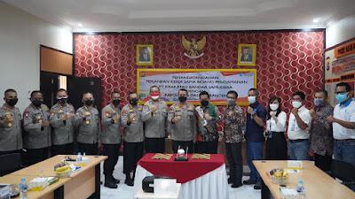 Sebagai Pelabuhan Internasional, PT Krakatau Bandar Samudera dan Polda Banten Jalin Kerjasama