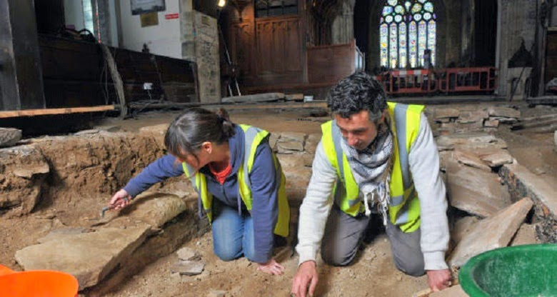 Dig at Medieval church unearths burial vaults