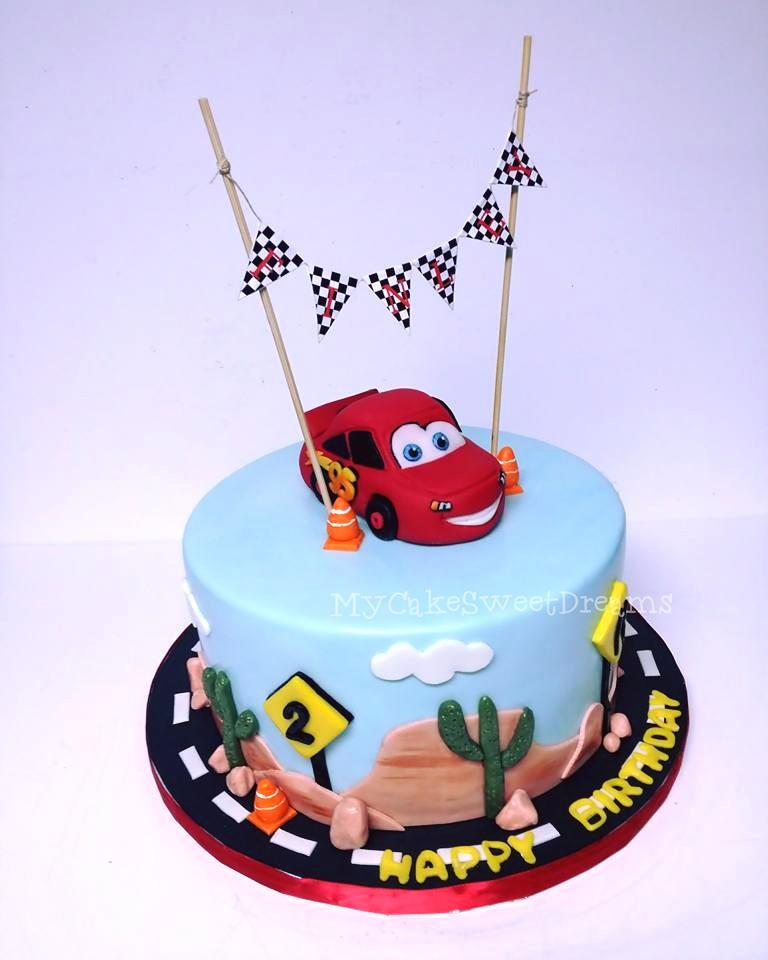 My Cake Sweet Dreams Disney Car Birthday Cake