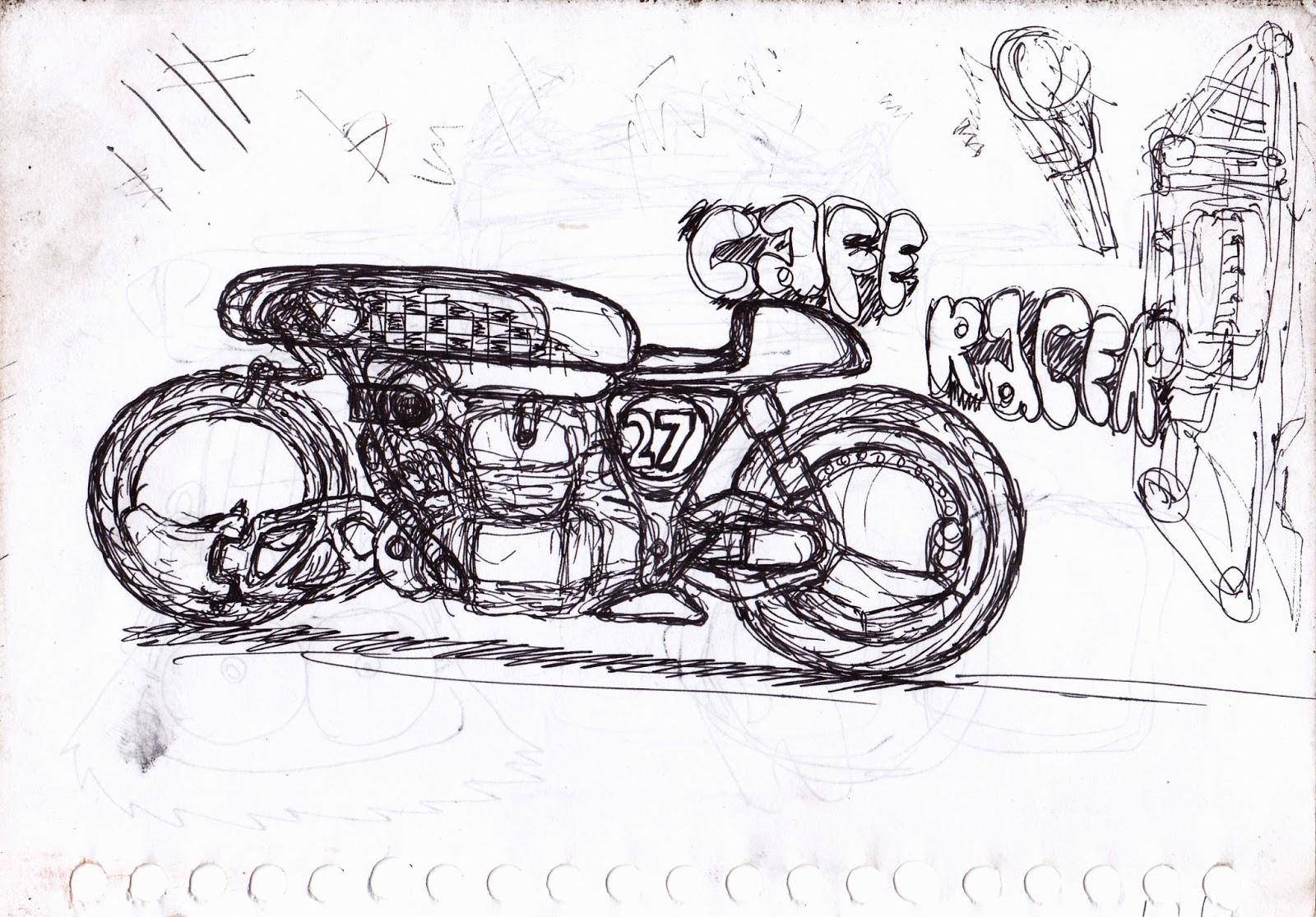 Motorcycle Sketch Motorcycle Sketch Part 2