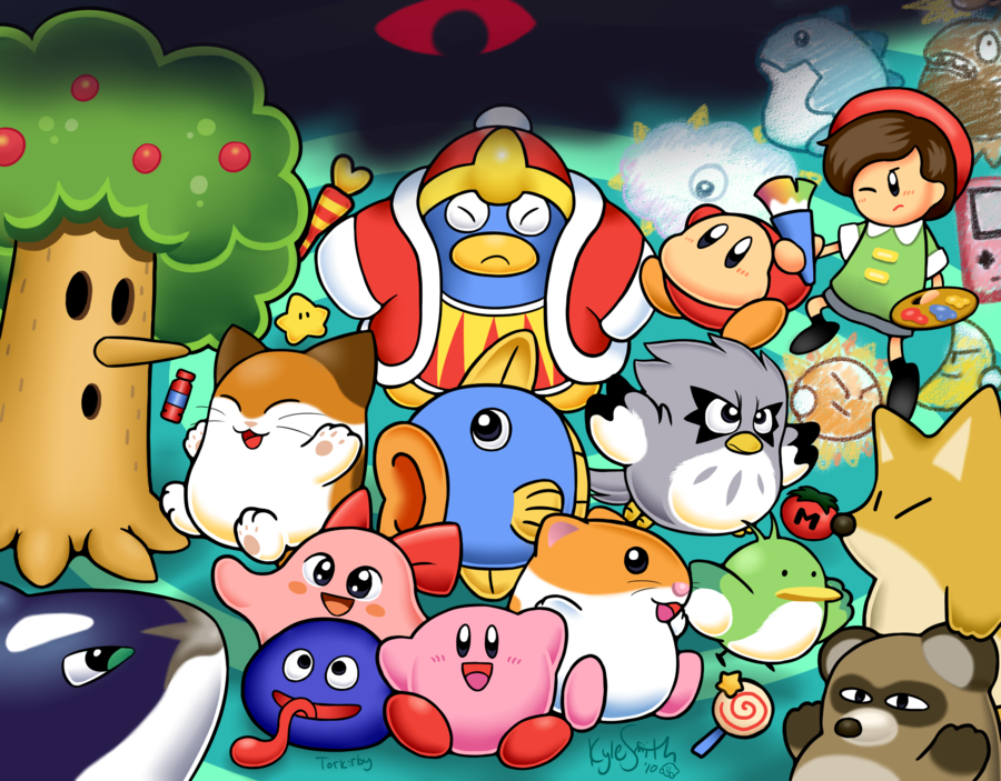 GAMING ROCKS ON: Game Art #47: Kirby Gallery