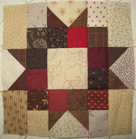 Sampler block for Cheri Payne's Everyday Patchwork