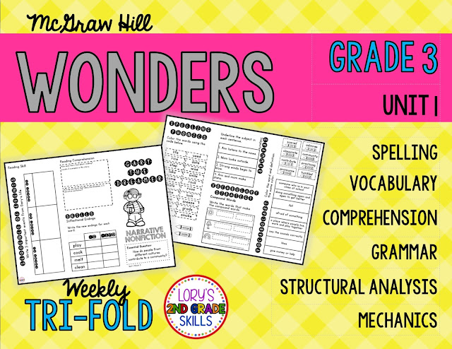 Lory's 2nd Grade Skills: McGraw-Hill WONDERS for 3rd grade