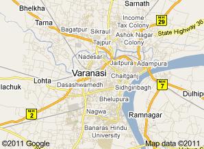Varanasi City In India Varanasi Maps - Varanasi map