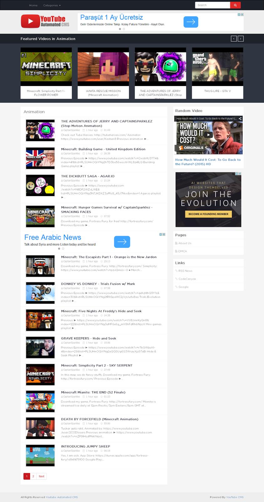 Youtube Automated Cms By Teedeskdev: حصريا حمل مجانا سكربت موقع فيديوهات YouTube Automated CMS