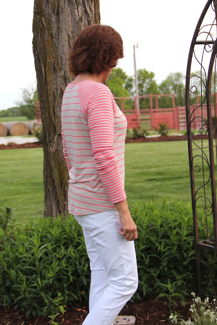 Lane Raglan striped knit from Style Maker Fabrics