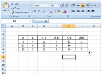Cara Menggunakan Operasi Penjumlahan, Pengurangan, Perkalian dan Pembagian dalam Microsoft Excel