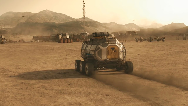 Human base and rover - image from Season 2 of NatGeo MARS TV series