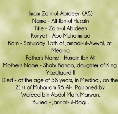 Imam Zain Al Abideen As