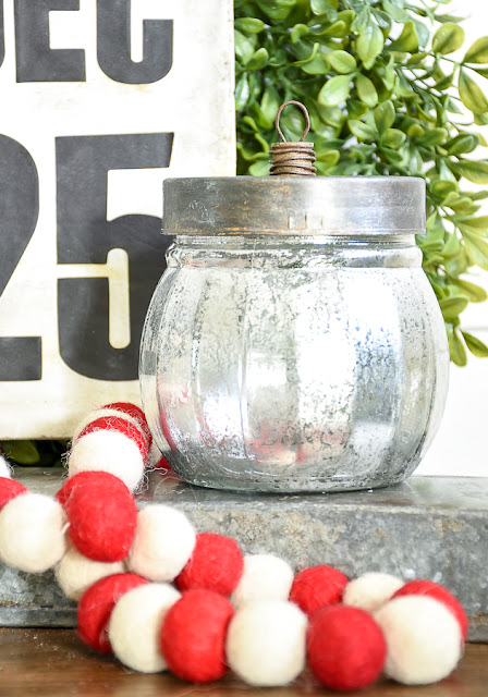 How to turn Dollar Tree glass jars into a vintage ornament