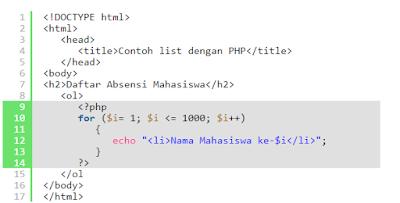 Perulangan Pada PHP