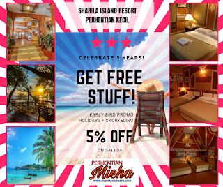 PROMOSI Potongan 5% Diskaun! Pakej Sharila Resort Perhentian