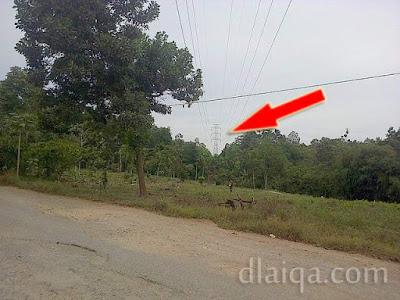penampakan sutet artinya sudah dekat dengan jalan lintas Sumatera