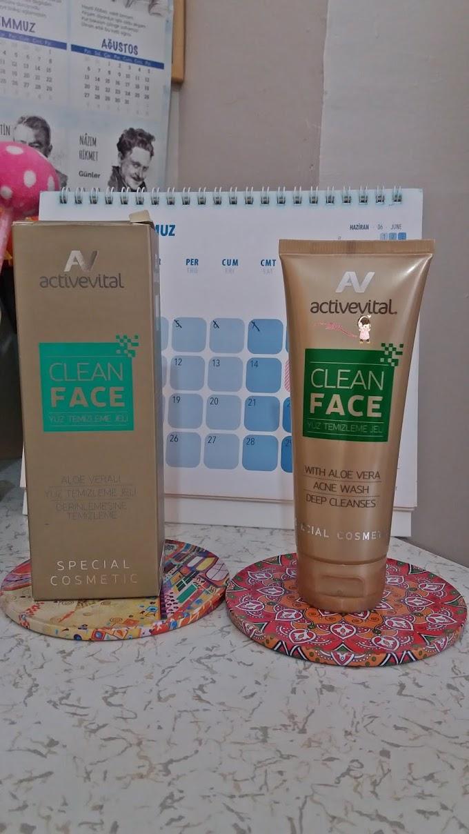 Activevital Clean Face  Yüz Temizleme Jeli Derinlemesine Temizleme