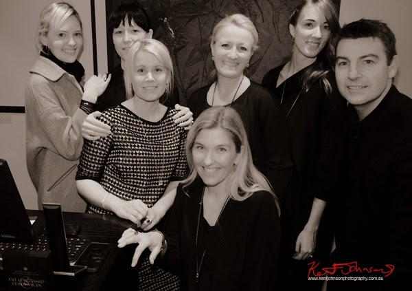 The Australian Team at Ole Lynggaard Copenhagen with Country Manager Kamilla Van Der Velde front center, VFNO 2014.