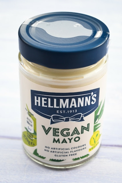 A jar of hellman's vegan mayo