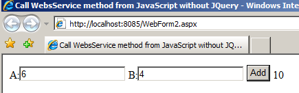 Call WebService method from JavaScript with multiple parameters