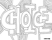 Coloring Page World: Inspiring Words