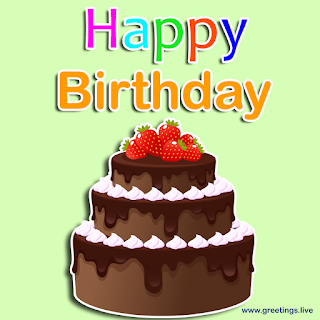 happy birthday wishes greetings image chocolate cake with strawberry on top
