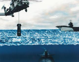 Погружаемая гидроакустическая система AN/AQS-13F