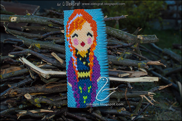 463. Anna z Krainy Lodu z origami / 3d origami Frozen – Anna