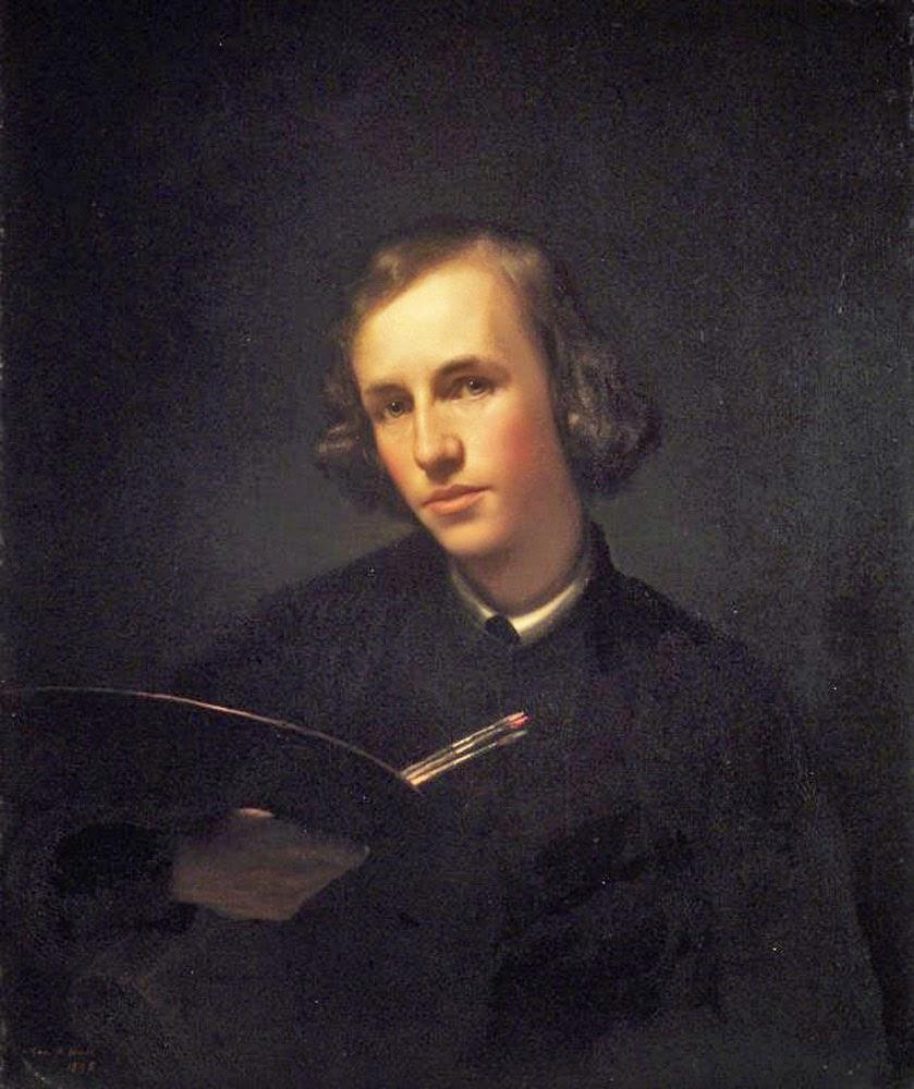 George Henry Hall, Self Portrait, Portraits of Painters, Fine arts, George Henry