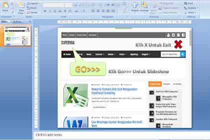 Teknik Single Slide Untuk Presentasi Powerpoint Dengan VBA