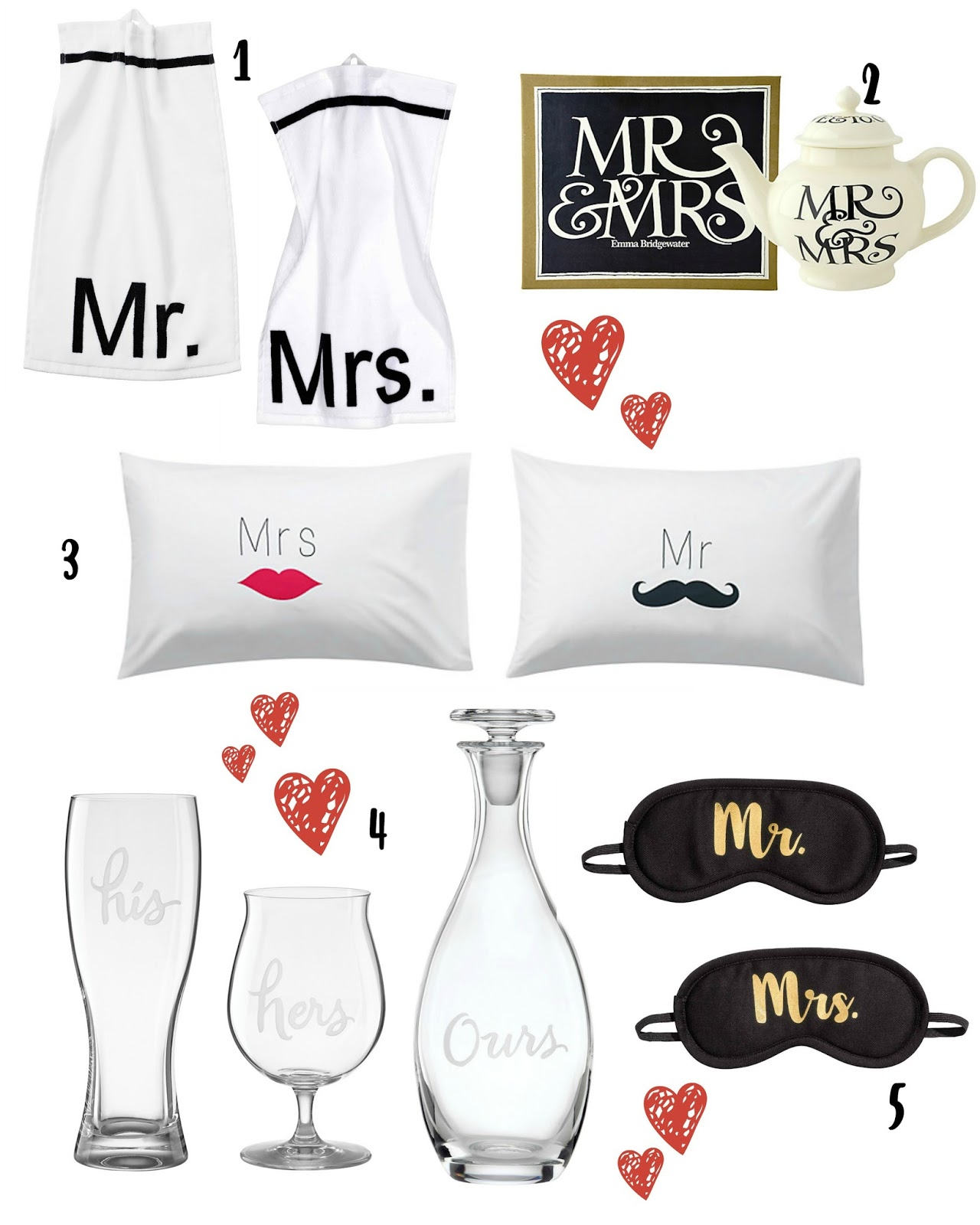 mamasVIB | V. I. BUYS: I do, I do, I do… 14 modern Mr & Mrs last-minute wedding gift ideas | wedding gifts | Mr & Mrs | Mr and Mrs wedding gift ideas