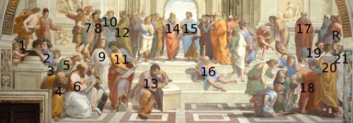 #PraCegoVer: Escola de Atenas, pintura de Rafael.