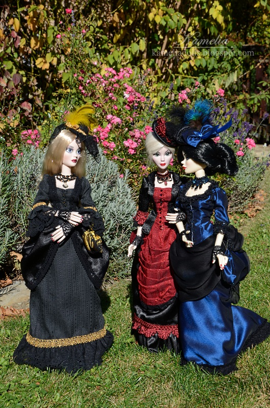 Victorian dresses for Evangeline Ghastly dolls