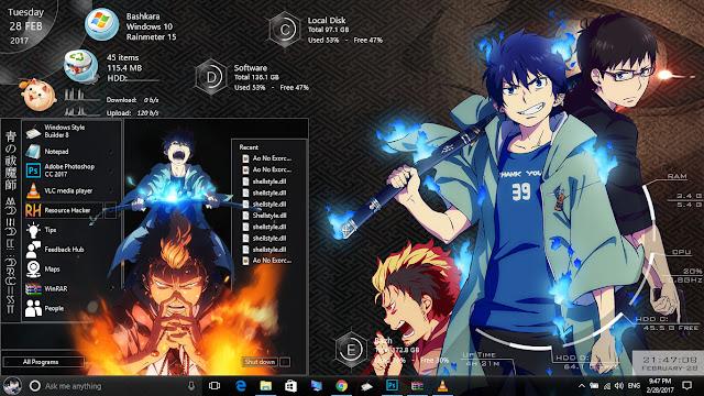 Theme Ao No Exorcist for Windows 10 Version 1607