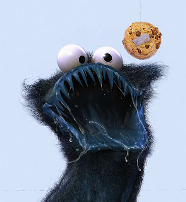 Cookie Monster o el Monstruo come galletas de Plaza Sesamo.