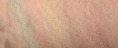From left to right: Sheer Miracle Green Loose Mineral Color Correcting Concealer, Light Cool SPF 30 Mineral Foundation, and Wide Awake Dark Circle Concealer