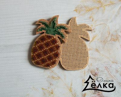 Вышитый ананас
