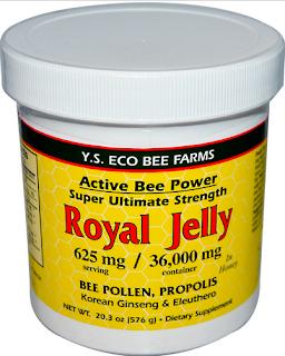 Y.S. Eco Bee Farms, Royal Jelly, 20.3 oz (576 g)  خليط من العسل و العكبر و حبوب اللقاح و جذور الجنسنج الكوري