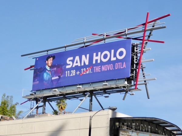 San Holo Novo DTLA billboard
