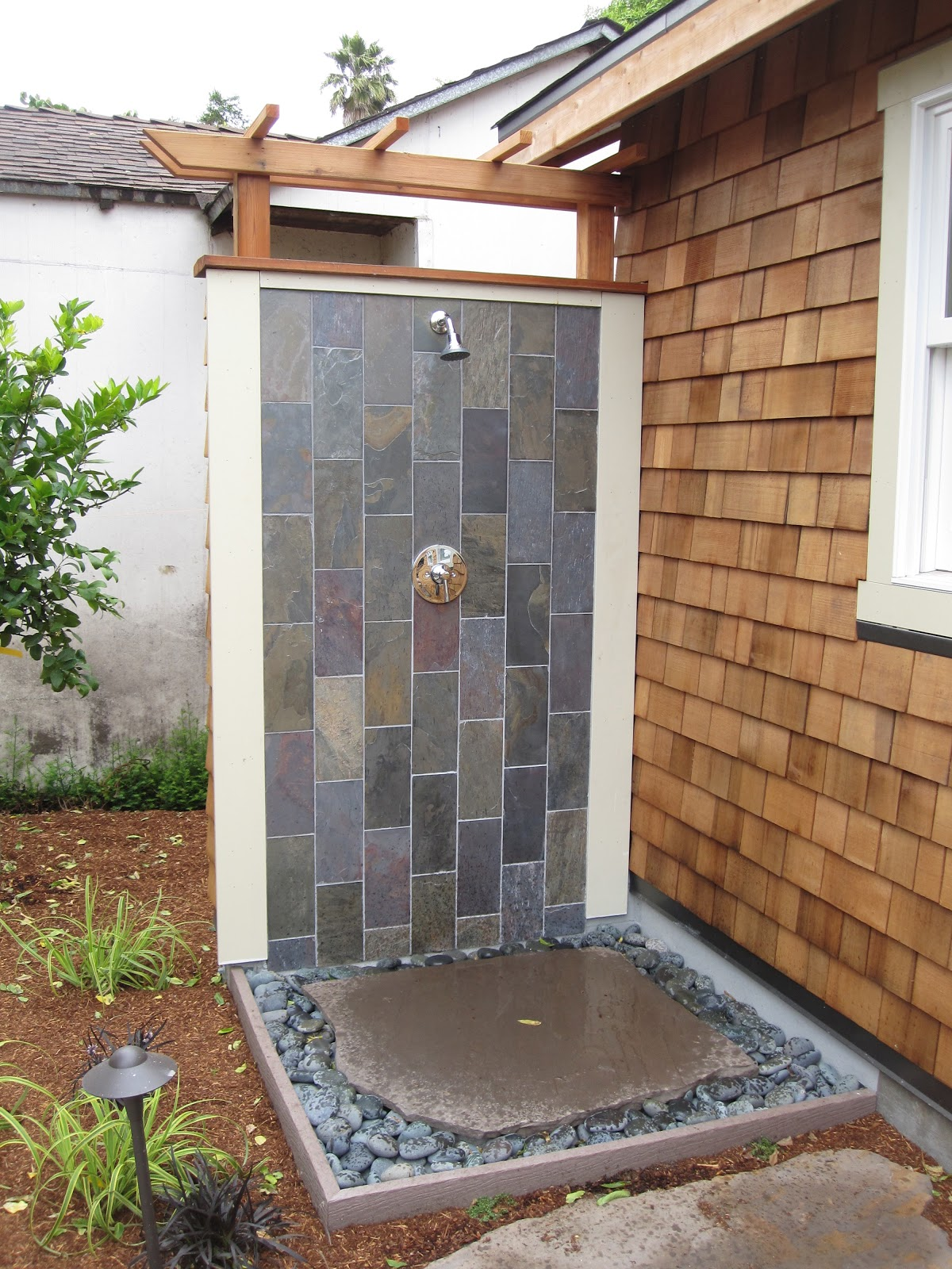 ... Mortared A Flagstone Patio, Built A Lattice/trellis Along The Side Of  The Garage, Installed A Fountain And Installed Irrigation And Plants.