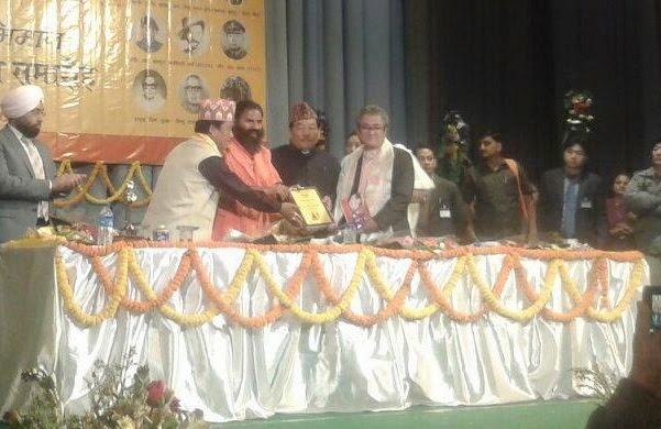 "Cinematographer Binod Pradhan honored with ""Hamro Gaurav"""